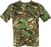 Military Army T Shirt British Woodland DPM