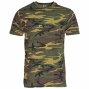 Military Army T Shirt US Woodland Camoflage DPM