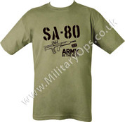 Military Printed SA - 80 T Shirt Olive Green