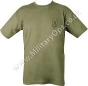 Military Printed SAS T Shirt Olive Green