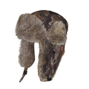 Faux Fur Hunting Hat Hunter Camo Adult