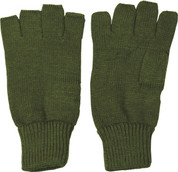 Fingerless Gloves / Mitts Olive Green