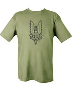 Military Printed SAS (big) T Shirt Olive Green