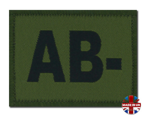 AB - Minus blood group patch