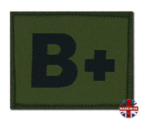 Olive Green DPM Blood Group Patch