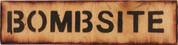 Bombsite Sign
