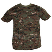 Military Woodland Digital T-Shirt
