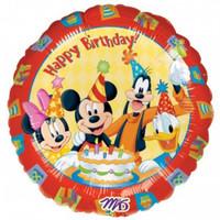 45cm Mickey & Friends 'Happy Birthday' Foil