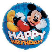 45cm Happy Birthday Mickey Mouse Foil