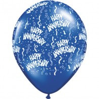12cm Anniversary Around Diamond Clear Latex Balloon EACH