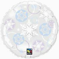 45cm Snowflake Microclear Foil Balloon