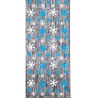 Metallic Snowflake Door Curtain (91cm x 240cm)