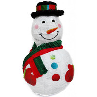 3D Snowman Pinata with Top Hat (45cm)