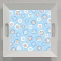 Snowflake 26cm Square Tray with Handles