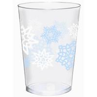 Snowflake Plastic Tumblers Pk 40