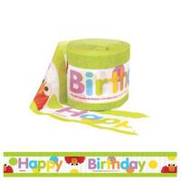 Sesame Street 'Happy Birthday' Crepe Streamer