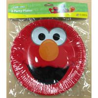 Elmo Plates Pk 6