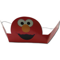 Elmo Party Crowns Pk 6