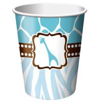 Wild Safari Cups Blue Pk 8