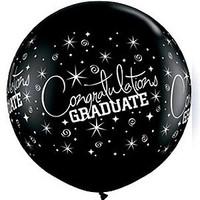Large Congratulations Graduate Black Balloon 90cm Latex
