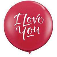 Large I Love You Ruby Balloon 90cm Latex