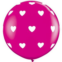 Large Hearts Wild Berry Balloon 90cm Latex