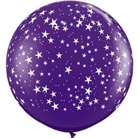 Large Small Stars Quartz Purple Balloon 90cm Latex