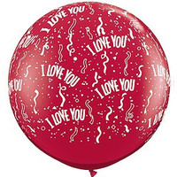 Large I Love You Red Balloon 90cm Latex