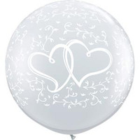 Large Hearts Around Balloon 90cm Latex