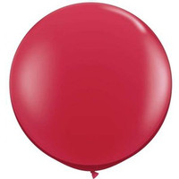 Large Ruby Red Balloon 90cm Latex