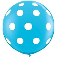 Large Polka Dot Robins Egg Balloon 90cm Latex