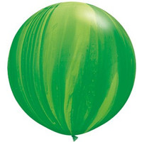 Large Superagate Green Rainbow Balloon 90cm Latex