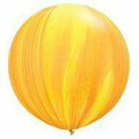 Large Superagate Yellow Orange Rainbow Balloon 90cm Latex