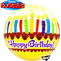 Happy Birthday Balloon Bubble Candles