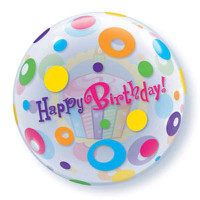 Happy Birthday Balloon Bubble Dots