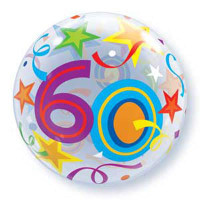 60 Birthday Balloon Bubble