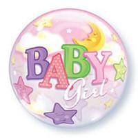 Baby Girl Balloon Bubble Moon