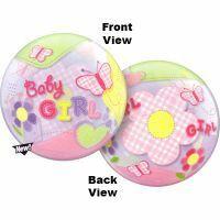 Baby Girl Balloon Bubble Butterflies
