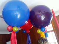 Wiggles Balloon Decorations with Tassles each