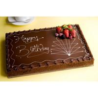 Chocolate Cake Happy Birthday Full Slab