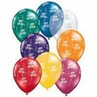 12cm small  Birthday Around Jewel Assorted pk 100