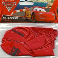 Disney Cars Latex Balloons Pk 6