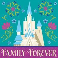 Frozen Disney Beverage Napkins pk 16 Castle