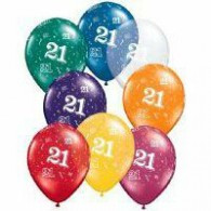 12cm small No:  21 Around Jewel Assorted Latex Balloon Pack of 100