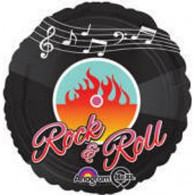 45cm 50's Rock N Roll Foil Balloon