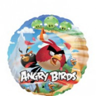 22cm Angry Birds Foil Balloon on cup and stick