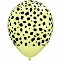 28cm Cheetah Spots on Ivory Silk Latex Balloon Pk 25