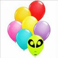 12cm Space Alien Festive Assorted Latex Balloon each