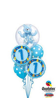 Baby Boy Balloon Bouquet Teddy Bear