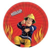 Fireman Sam Party Plates Pk 8
